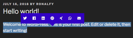 Highlight and Share Blue Theme