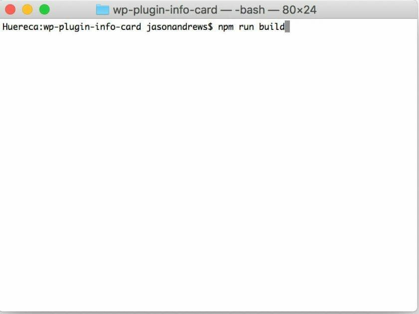 Run npm run build
