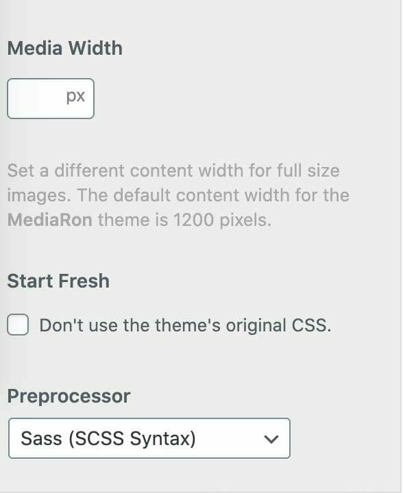 WordPress Preprocessor Screenshot
