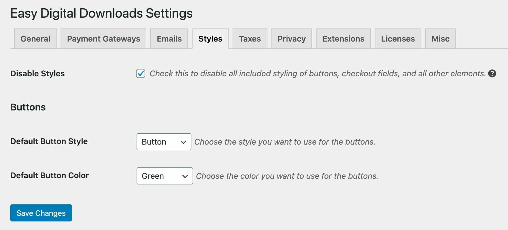 Disable Styles for Easy Digital Downloads